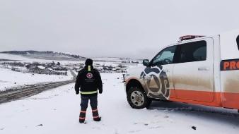 Cae la primera nevada de la temporada en Galeana y Rayones