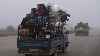 Huyen sirios de la ofensiva del gobierno