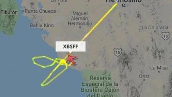 La subsecretaria de Protección Civil de Baja California Sur informó en su cuenta de Twitter de la avioneta perdió contacto a 49 millas náuticas sobre el Mar de Cortés.