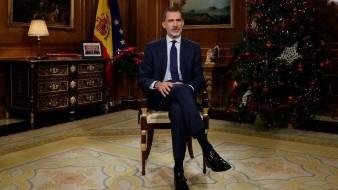 Rey de España defiende Constitución en su mensaje navideño