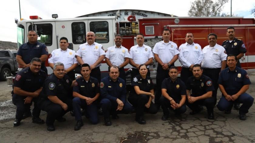 En octubre pasado los bomberos de los cinco municipios de Baja California se vieron exigidos al máximo por una contingencia que de acuerdo a sus propios recuerdos nunca antes se había presentado, al menos no en tal magnitud.(Sergio Ortiz)