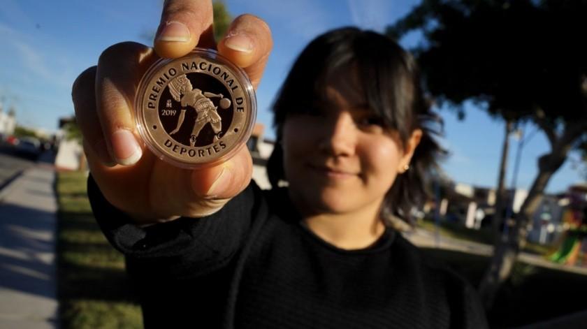 Alexa Citlali Moreno Medina es tímida ante la sociedad, pero también en estos momentos, la cara de la gimnasia artística en México debido a la medalla de bronce que obtuvo en la Copa del Mundo de Azerbaiyán y su clasificación a los Juegos Olímpicos de Tokio 2020.(Víctor Medina)