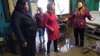 Llama DIF a apoyar a familias afectadas por inundación