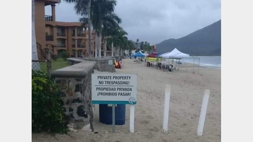 En San Carlos y otras playas de Guaymas hay accesos restringidos a los turistas.