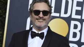 Joaquin Phoenix en los Globos de Oro.