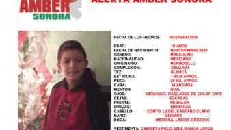 Se ha activado la Alerta Amber por la desaparición de un niño en Hermosillo, Sonora.
