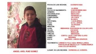 Localizan sano y salvo al menor Ángel Axel Ruiz