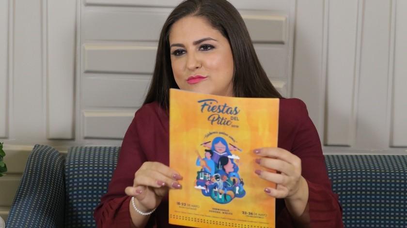 Célida López se pronunció al respecto sobre las publicaciones en redes sociales que piden cancelar las Fiestas del Pitic para pavimentar las calles de Hermosillo.(Archivo.)
