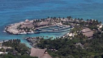 Complejo turístico donde se celebró la sexta edición de los premios Platino 2019, en la Riviera Maya, en el estado de Quintana Roo.