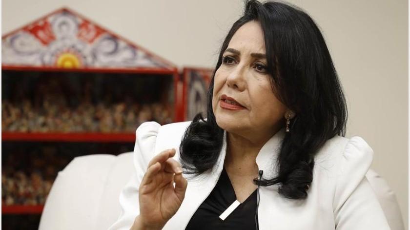 """Por su parte, la ministra de la Mujer y Poblaciones Vulnerables, Gloria Montenegro, aseguró que sí se han dado avances en la materia, como el paso a """"la sinceridad para ver lo que es el machismo"""".(EFE)"""