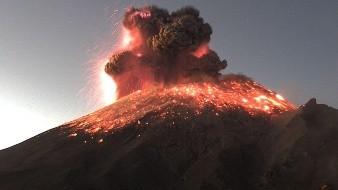 VIDEO: Impresiona explosión del volcán Popocatépetl