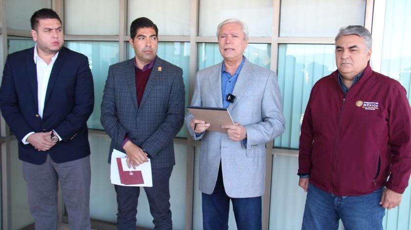 Reunión de seguridad realizada en el Centro de Gobierno de Ensenada.(Cortesía)