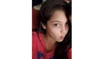 Jazmín Arlen Martínez Bonilla de 13 años es la menor desaparecida.