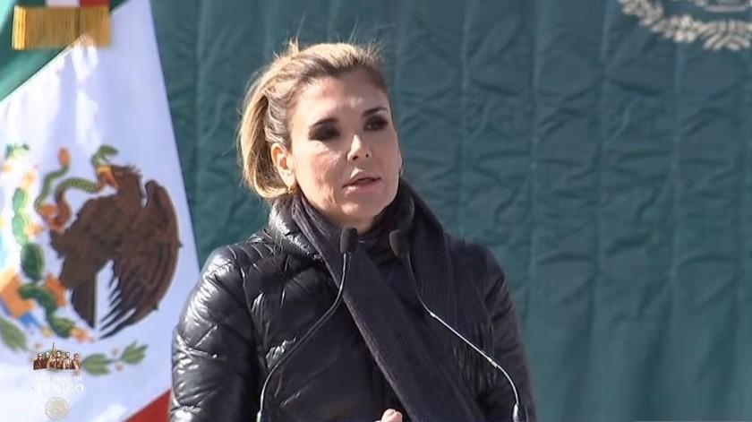 Claudia Pavlovich Arellano(Captura de video)