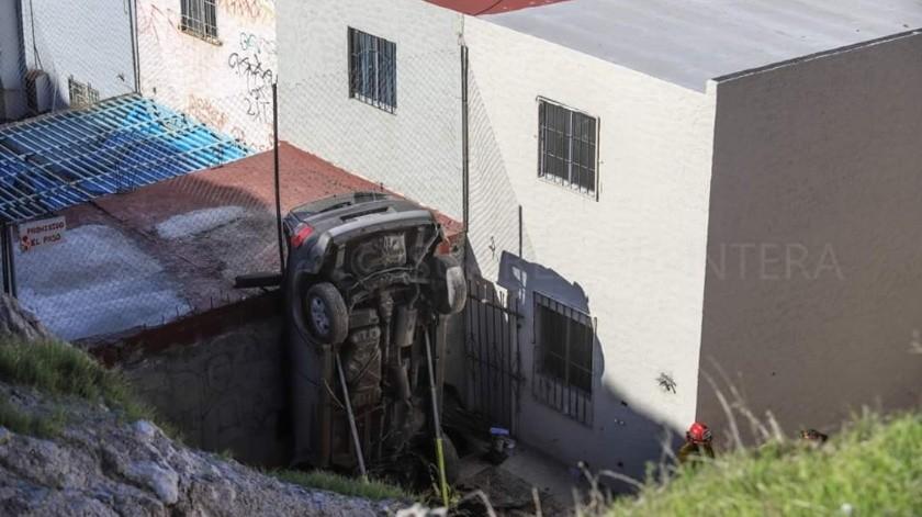 El hecho se dio aproximadamente a las 8:00 horas en el fraccionamiento Cerro de las Abejas.(Margarito Martínez)