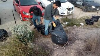 Realizan el primer plogging del año en el Cerro El Bachoco