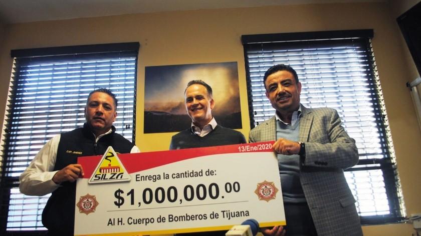 El recurso se logró gracias a la gestión de Pro Bomberos Tijuana A.C. encabezado por Xavier Peniche Bustamante.(Cortesía)