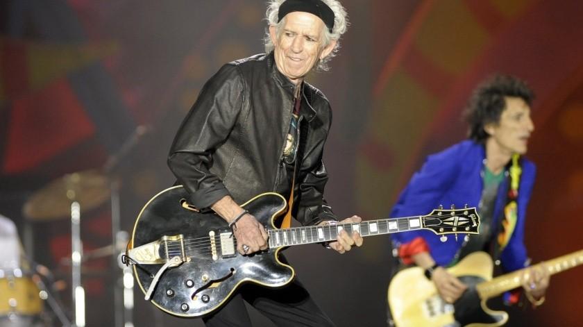Keith Richards, guitarrista de la banda de rock británica, The Rolling Stones.(EFE)