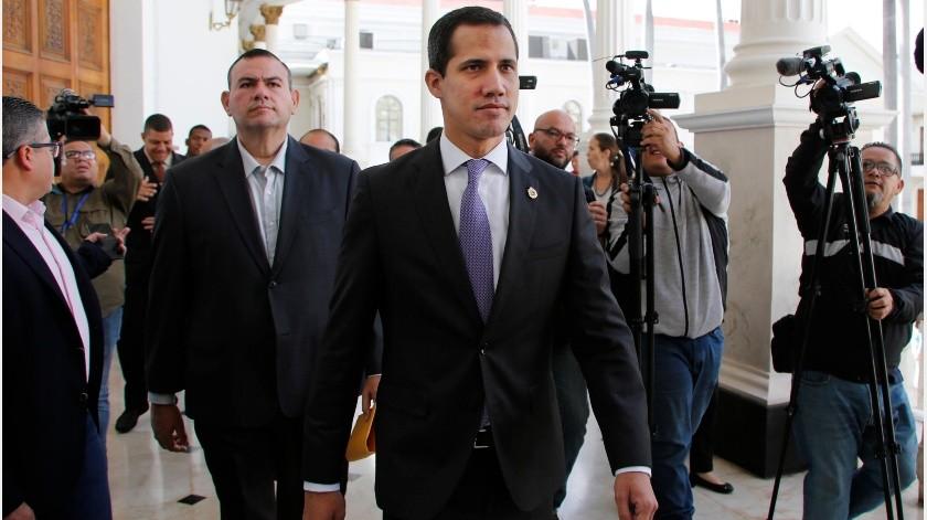 Parlamento Europeo reitera apoyo al líder de la oposición en Venezuela, Juan Guaidó(AP- Archivo)