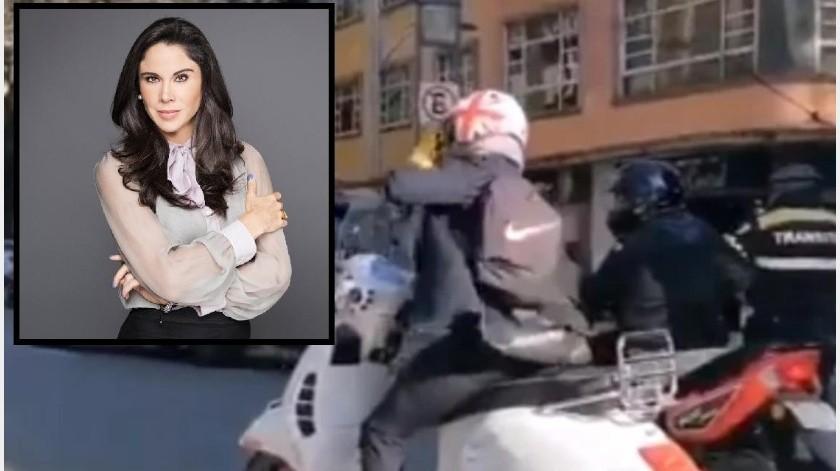 Cállese perr...: Paola Rojas es insultada por policía; lo investigan(Captura de video)