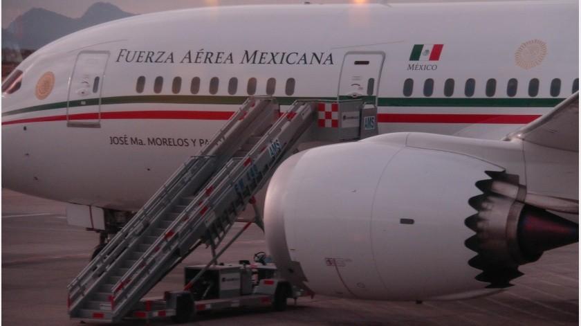 El viaje ida y vuelta del avión presidencial a EU(GH)