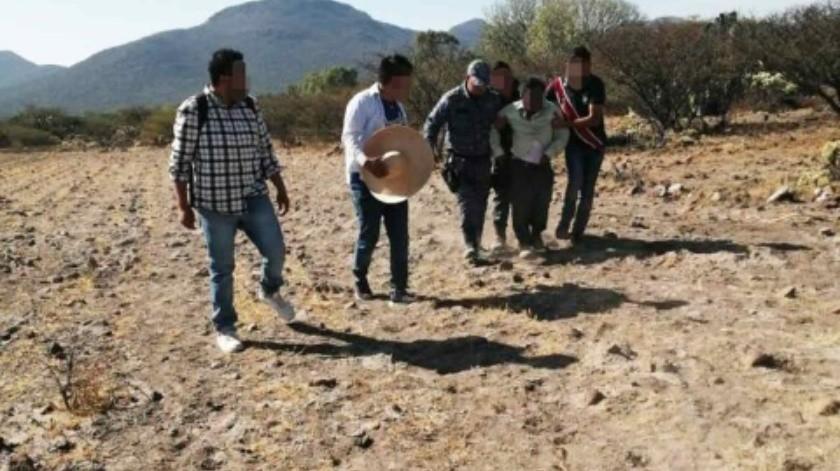 Hallan a hombre de la tercera edad con ayuda de drones en cerro de Hidalgo(Especial)