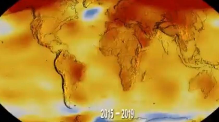 Estremece video de la NASA al mostrar cómo la temperatura del mundo aumenta