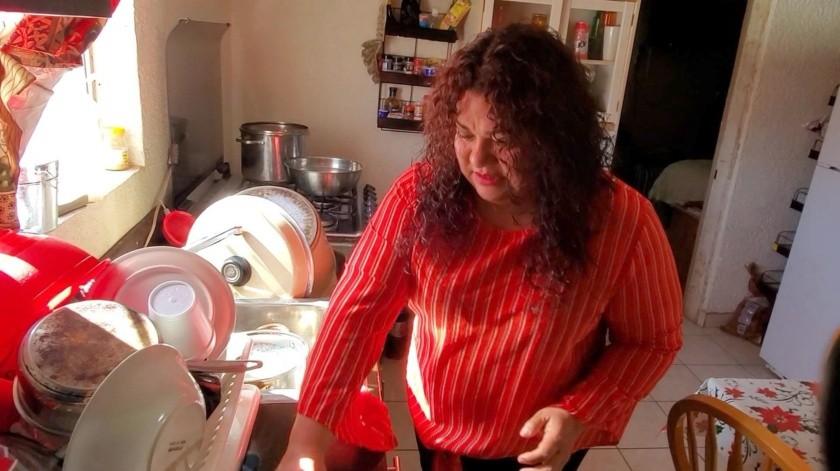 Maritza Lizbeth Vergara Ibarra radica en Nogales tras ser deportada.(Rubén Ruiz)