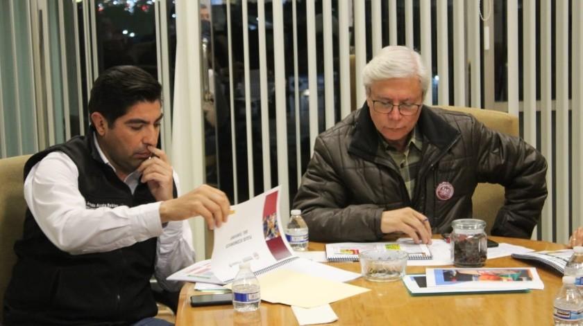 El Gobernador se reunió con el alcalde de Ensenada y comerciantes.(Cortesía)