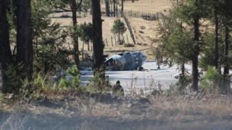 Se desploma helicóptero de la Sedena en Chihuahua