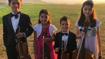 Originarios de San Francisco, California los pequeños niños deleitaron al público con su música clásica en el violonchelo y violín acompañados por la pianista invitada Ilución Hernández.