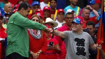 Mardona llega a Caracas a ofrecer apoyo político a Maduro: