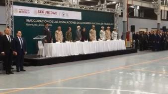 Inauguración de las instalaciones de la Guardia Nacional en Tijuana