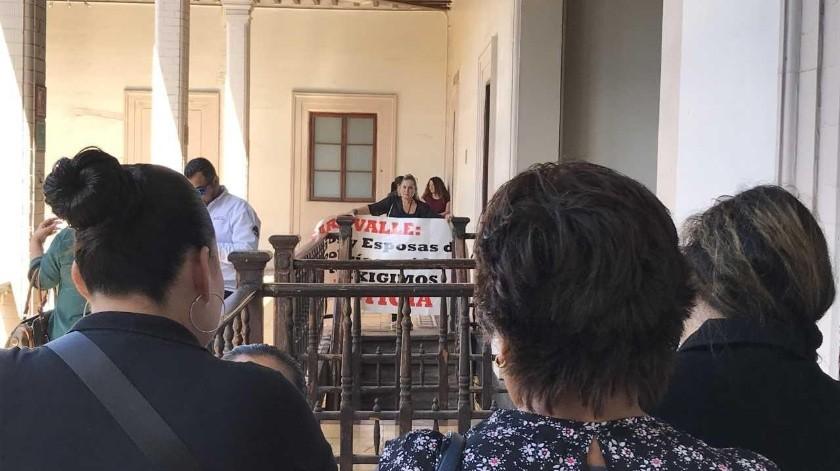 Sara Valle Dessens le solicitó al secretario de Seguridad y Protección Ciudadana, Alfonso Durazo Montaño 10 millones de pesos.(Yesicka Ojeda)