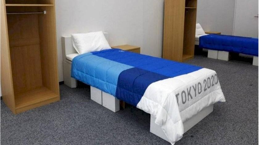 Fabrican camas anti - sexo para los Juegos Olímpicos Tokio 2020(Twitter)