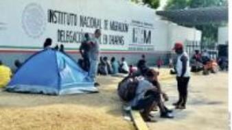 800 migrantes son trasladados a albergue del INM en Chiapas