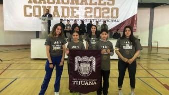 La delegación de Tijuana fue abanderada por el Imdet.