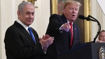 El presidente Donald Trump develó el martes su largamente esperado plan de paz para el Medio Oriente.