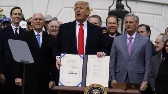 Trump celebra el T-MEC, una de sus principales promesas de campaña