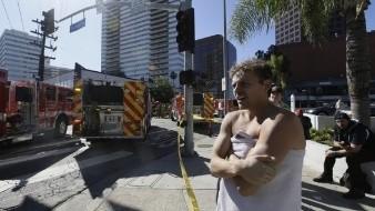 Evacuan edificio en Los Ángeles tras incendio en balcón