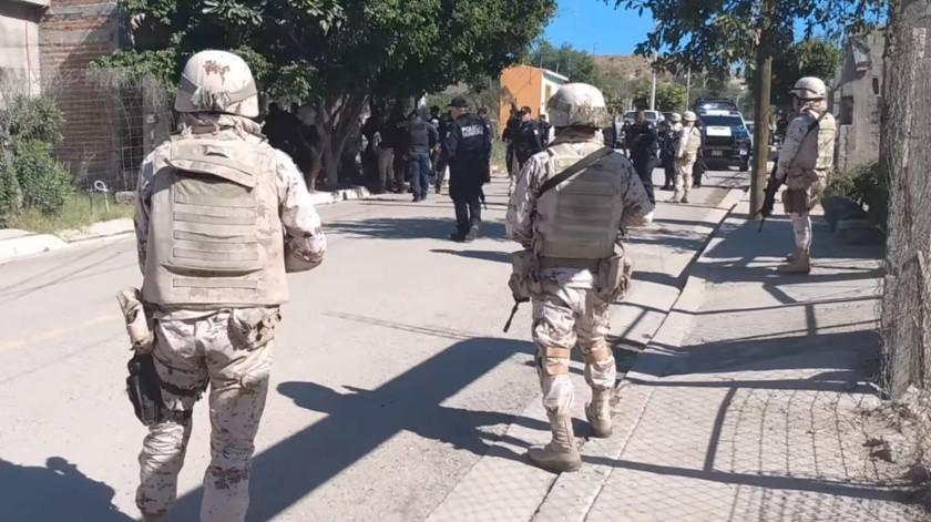 Operativo realizado el pasado martes en la colonia Insurgentes, después de la agresión a policías.(EL IMPARCIAL)