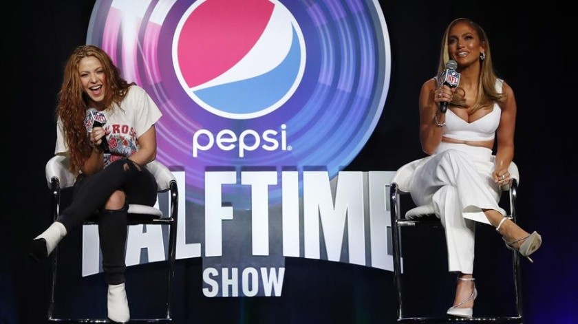 Jennifer López y Shakira revelaron este jueves el concepto principal de su histórica presentación en el medio tiempo de la edición 54 del Super Bowl.(EFE)