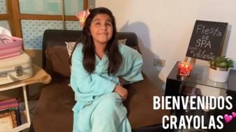 Niña invidente cumple sueño de ser 'youtuber'; graba en Guaymas