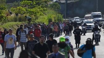 Parte caravana migrante desde El Salvador, direcci�n EEUU
