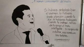 Con memes y caricaturas, maestro educa a sus alumnos