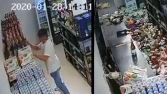 VIDEO: Hombre trata de salvar cervezas antes que su vida durante sismo