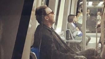 Captan a Luis Miguel en tren de Madrid