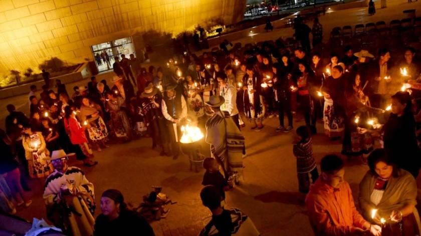 La celebración fue protagonizada por grupos pertenecientes a cuatro comunidades purhépechas asentadas en la región