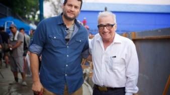 El productor originario de Agua Prieta, Sonora en compañía del director de cine, Martin Scorsese.