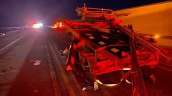 Camión choca por alcance en carretera SLRC-Sonoyta
